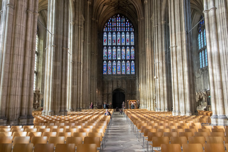 canterbury: Interior View of Canterbury Cathedral Editorial