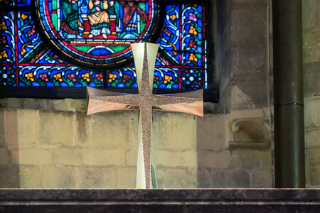 gold cross: Gold Cross in Canterbury Cathedral