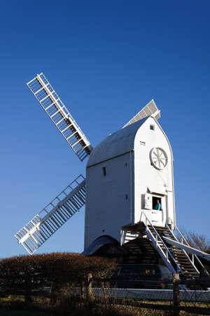 jill: CLAYTON, EAST SUSSEXUK - JANUARY 3 : Jill Windmill on a winters day in Clayton East Sussex on January 3, 2009. Unidentified man.