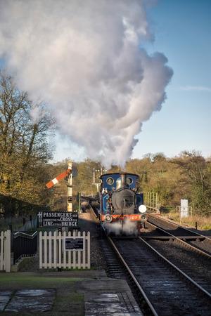 sheffield: Bluebell Steam Train at Sheffield Park Station Editorial