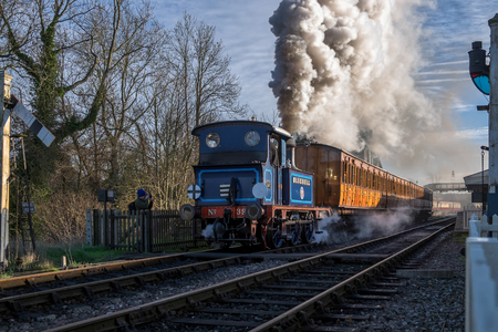 bluebell: Bluebell leaving sheffield Park Station Editorial