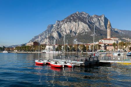 como: Boats at Lake Como Stock Photo