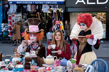 Mad Hatters Tea Party at Camden Lock Editorial