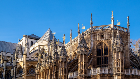 the abbey: Facade of Westminster Abbey