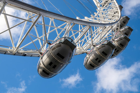 city of london: View of the London Eye