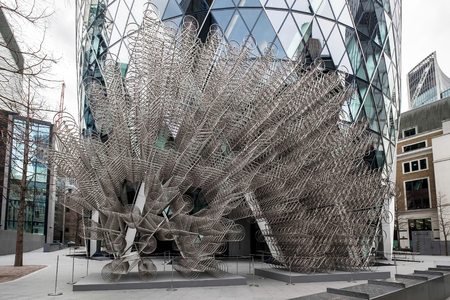 ai: Ai Weiweis new Forever Sculpture  outside Londons Gherkin Building