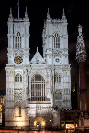 westminster: View of Westminster Abbey at Nighttime