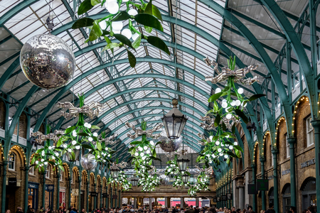 covent: Christmas Decorations at Covent Garden Editorial