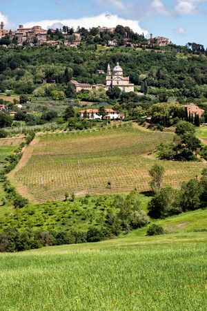 montepulciano: View of San Biagio church and Montepulciano