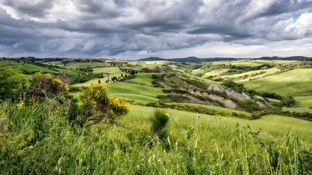 val d'orcia: Val dOrcia in Tuscany Stock Photo