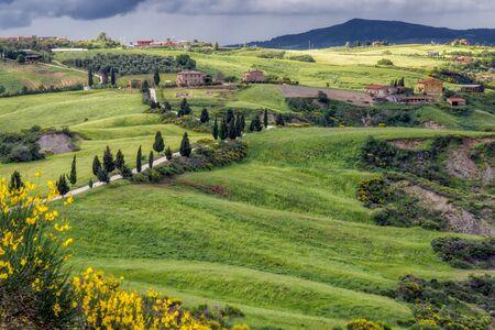 val dorcia: Val dOrcia in Tuscany Stock Photo