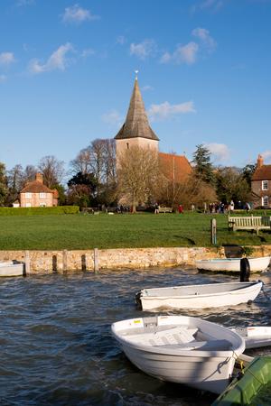 bathed: Bosham bathed in winter sunshine