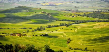 val d'orcia: Countryside of Val dOrcia near Pienza