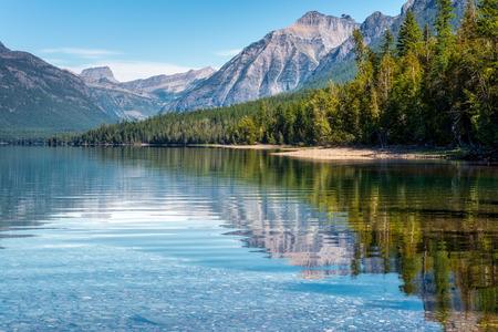 lake of the woods: View of Lake McDonald Stock Photo