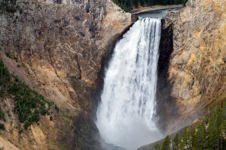 lower yellowstone falls: View of Lower Yellowstone Falls