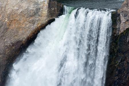 lower yellowstone falls: Close-up View of Lower Yellowstone Falls Stock Photo