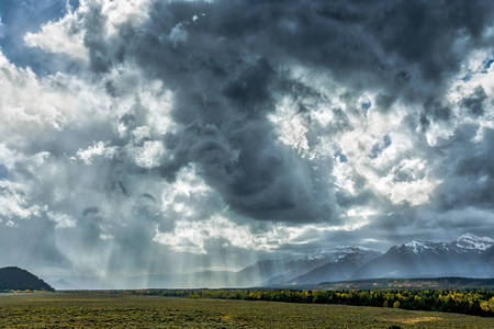 approaching: Stormy Weather in the Grand Tetons National Park