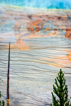 prismatic: View of the Grand Prismatic Spring Stock Photo