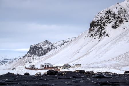 volcanic: Reynisfjara Volcanic Beach in Winter