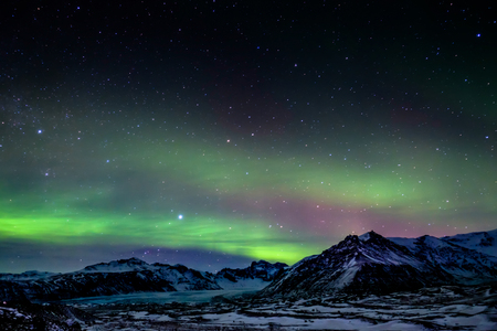 ionosphere: Northern Lights Southern Iceland