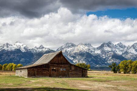 jackson: View of Mormon Row near Jackson Wyoming