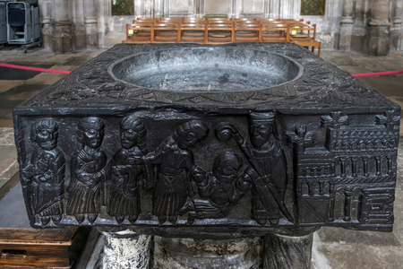 winchester: The Font at Winchester Cathedral