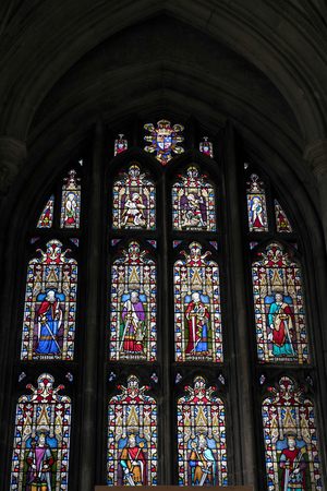 winchester: Stained Glass Window in Winchester Cathedral