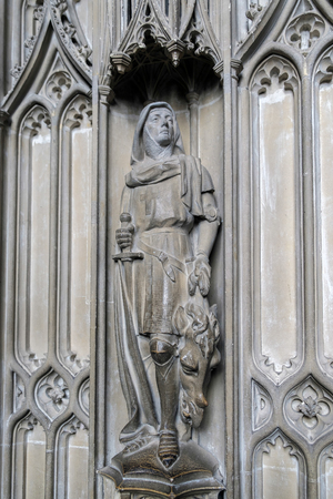 winchester: Detail from Bishop Foxs Chantry Chapel in Winchester Cathedral