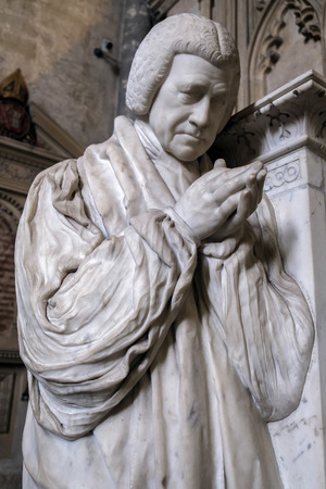 winchester: Sculpture of Reverend Brownlow North in Winchester Cathedral
