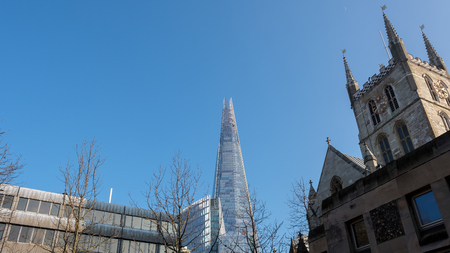southwark: View of the Shard and Southwark Cathedral Editorial