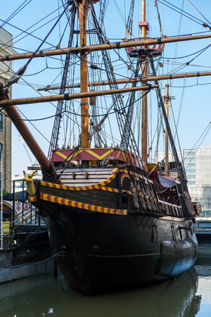hind: The Golden Hind in London