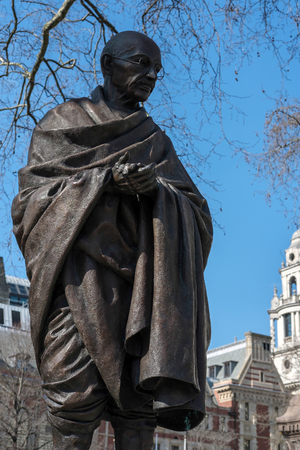 parliament square: Statue of Mahatma Ghandi in Parliament Square Editorial