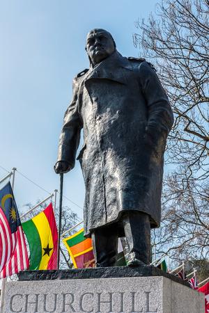 winston: Statue of Winston Churchill in Parliament Square Editorial