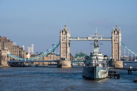 hms: View towards HMS Belfast and Tower Bridge