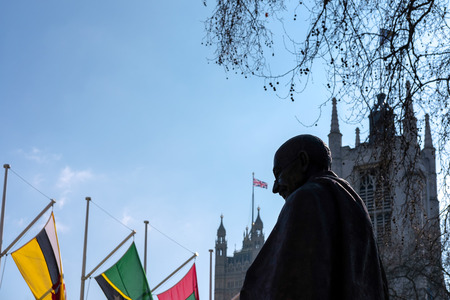 mahatma: Statue of Mahatma Ghandi in Parliament Square Editorial