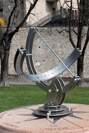 sundial: Modern Sundial in Bergamo Editorial