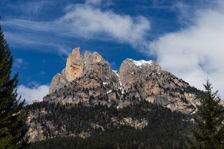 sud tirol: Mountains in the Valley di Fassa near Pozza di Fassa Trentino Italy Stock Photo