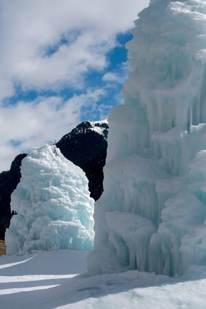 sud tirol: Melted Ice Sculptures in The Valley di Fassa