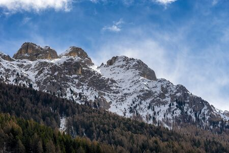 sud tirol: Mountains in the Valley di Fassa near Moena Trentino Italy