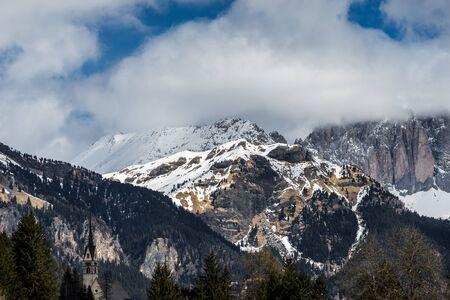 Mountains in the Valley di Fassa near Moena Trentino Italy