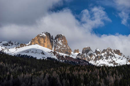 sud tirol: View of the Mountain above Moena