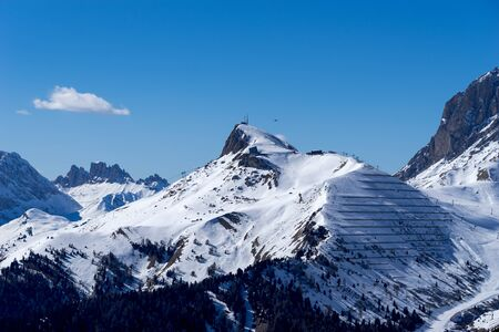 sud tirol: View of the Dolomites from the Pordoi Pass