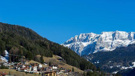sud tirol: View of Ortisei in Val Gardena