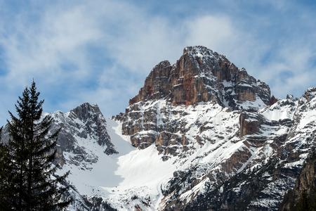 sud tirol: Red Mountain near Cortina dAmpezzo