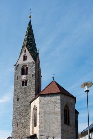 belfry: Belfry of the Parish Church in Villanders Stock Photo