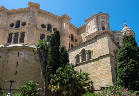 incarnation: Exterior View of the Cathedral of the Incarnation in Malaga Editorial