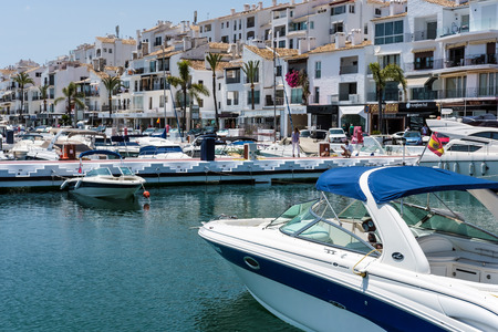 View of Boats in the Harbour at Porto Banus Редакционное