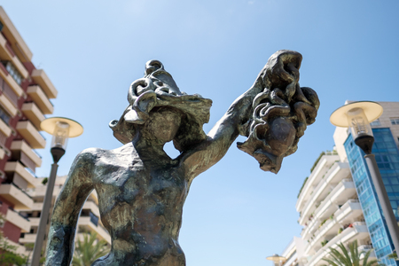 beheading: Perseo Statue by Dali in Marbella