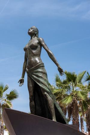 mediterranea: Lady of the Sea Statue in Fuengirola Stock Photo