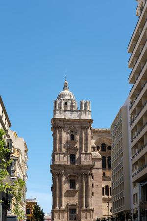 malaga: View towards Malaga Cathedral